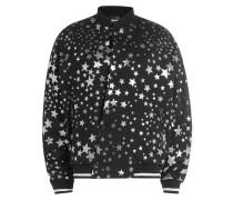College-Jacke aus Baumwolle mit Sternenprint