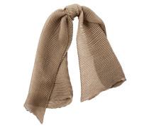 Gerippter Schal aus Kaschmir und Seide