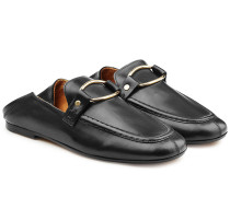 Loafers aus Leder mit Zierschnalle