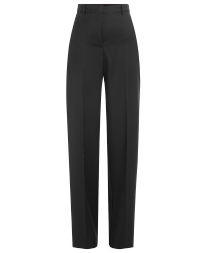 High-Waist-Pants aus Baumwolle