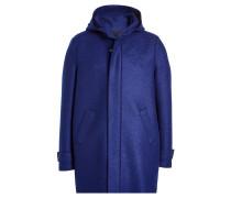 Mantel aus Schurwolle mit Kapuze