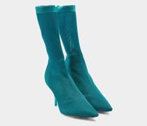 Sock Boots mit transparentem Heel