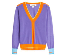 Cardigan aus Baumwolle im Color Block Look