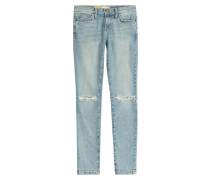 Distressed Skinny Jeans aus Baumwoll-Stretch