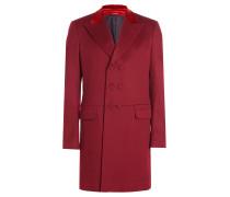 Mantel aus Wolle mit Samtkragen