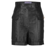 Leder-Shorts mit Cut-Outs