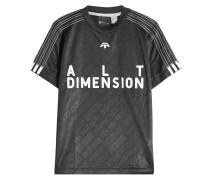 Bedrucktes Soccer T-Shirt mit Muster und Stickerei