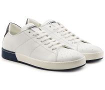 Sneakers aus Kalbsleder mit Perforierung