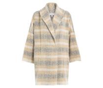 Karierter Mantel aus Schurwolle