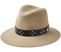 Fedora-Hut Floppy aus Wolle mit Leder
