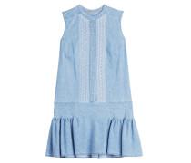 Besticktes Denim Dress aus Baumwolle
