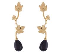 18kt vergoldete Ohrringe mit schwarzem Achat