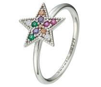 Ring Rainbow Star aus Sterlingsilber