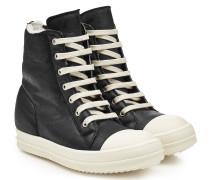 High Top Sneakers aus Leder mit Schaffell