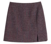 Tweed-Skirt mit Wolle