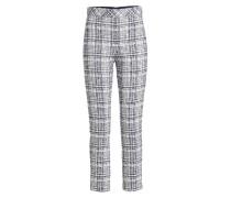 Gemusterte Straight Leg Pants aus Tweed