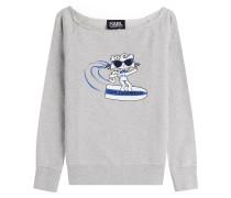 Sweatshirt Choupette on the Beach aus Baumwolle
