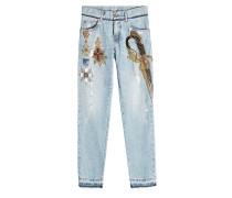 Straight Leg Jeans mit Décor