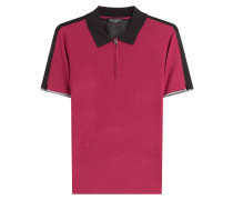 Poloshirt aus Strick im Colorblock-Look