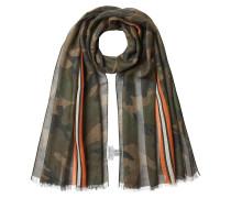 Bedruckter Schal mit Kaschmir und Seide