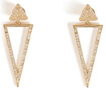 Ohrringe Bermuda Triangle aus 18kt Gold mit weißen Diamanten