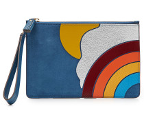 Clutch Rainbow aus Veloursleder