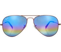 Sonnenbrille Aviator mit verspiegelten Gläsern