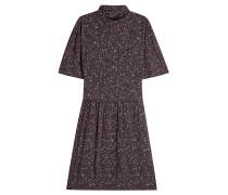 Bedrucktes Kleid mit Stehkragen