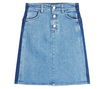 Jeansrock aus Baumwolle mit Kontrastnähten