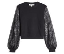 Baumwoll-Sweatshirt mit Spitze
