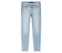 Cropped Mid Rise Skinny Jeans