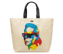 X Steven Wilson Bedruckter Shopper aus Canvas