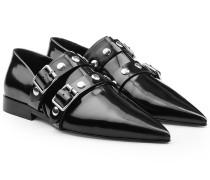 Spitze Loafers aus Lackleder