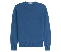 Baumwoll-Pullover mit Kontrastpaspel