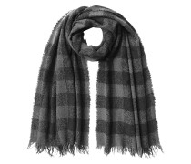 Karierter Schal mit Kaschmir und Seide