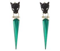 Panther-Ohrringe mit Kristallen