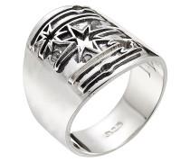 Ring Galaxy aus Sterlingsilber mit weißem Topas
