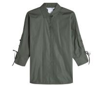 Bluse aus Baumwolle mit Schnürdetails