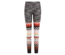 Slim-Pants aus Zickzack-Strick