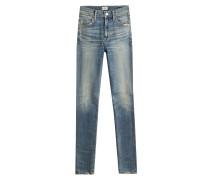 Skinny Jeans mit Distressed-Effekten