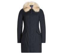 Mantel mit Kragen aus Fuchsfell