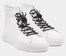 High Top Sneaker mit Leder