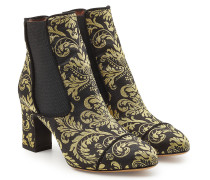 Ankle Boots mit Ornament-Muster