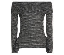 Gemustertes Off-Shoulder-Top aus Wolle