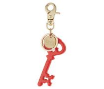 Schlüsselanhänger mit Logo- und Schlüssel-Charm