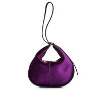 Handtasche aus Samt und Leder
