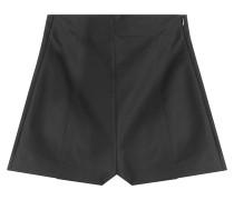 High-Waist-Shorts aus Baumwoll-Stretch