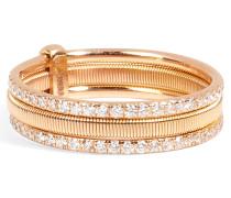 Trio-Ring aus 18kt Rotgold mit weißen Diamanten