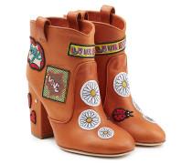 Cowboy-Boots aus Leder mit Patches