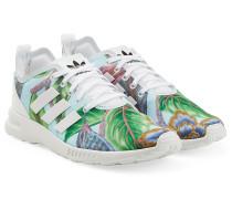 Sneakers aus Textil mit Tropical-Print